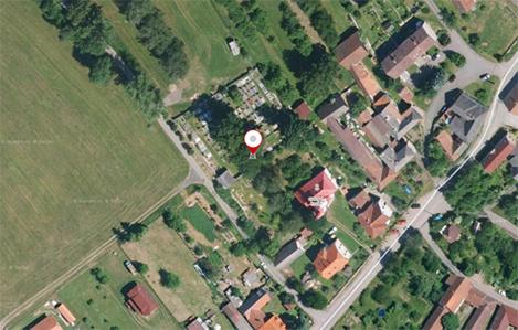 Hřbitov - letecký pohled
