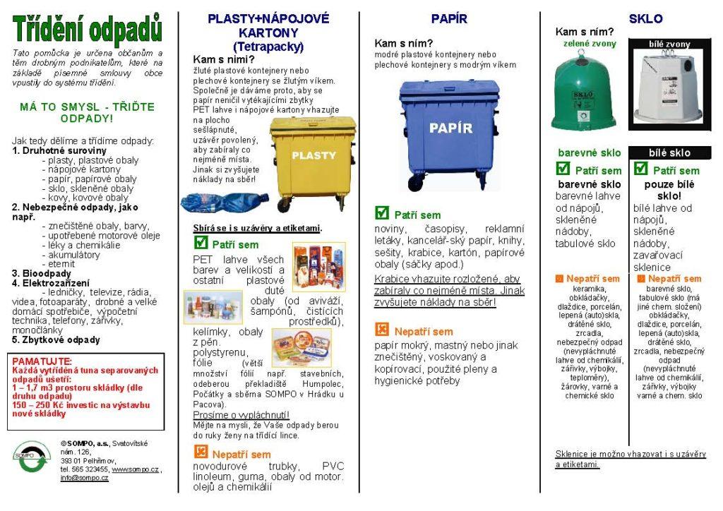 Třídění odpadů - leták - stránka 2